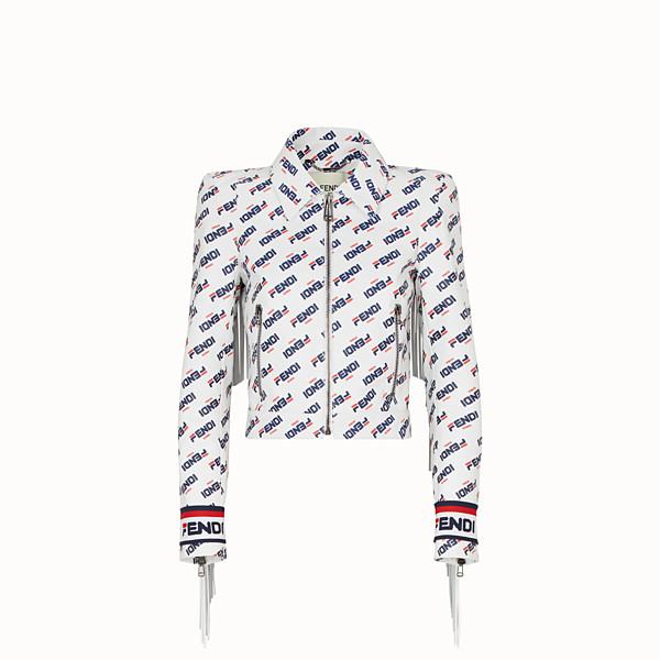 FENDI JACKET - White leather jacket - view 1 small thumbnail