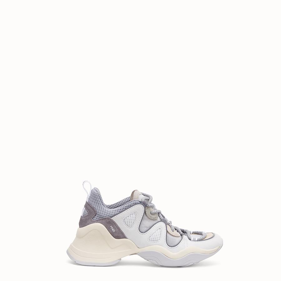 FENDI SNEAKER - Niedriger Sneaker aus Veloursleder in Weiß - view 1 detail