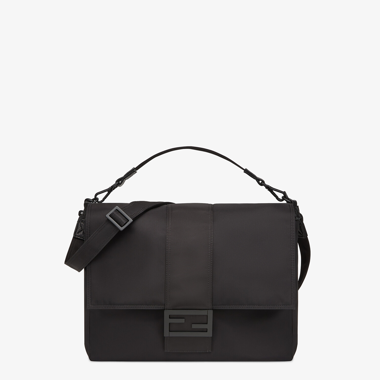 FENDI BAGUETTE MESSENGER BAG LARGE - Black nylon bag - view 1 detail