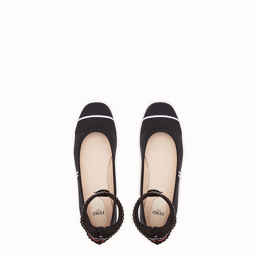 FENDI BALLERINAS - Black stretch fabric ballerinas - view 4 detail
