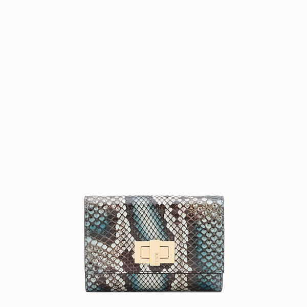 FENDI CONTINENTAL MEDIUM - Green python wallet - view 1 small thumbnail