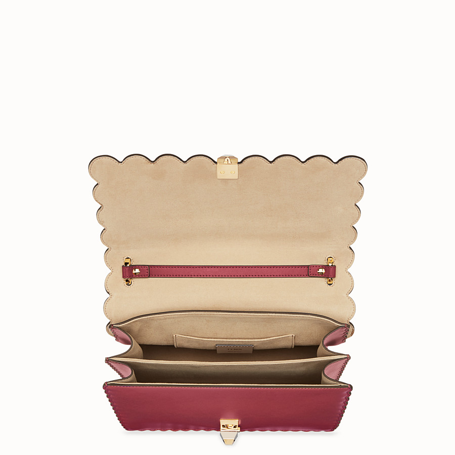 FENDI KAN I - Red leather bag - view 4 detail