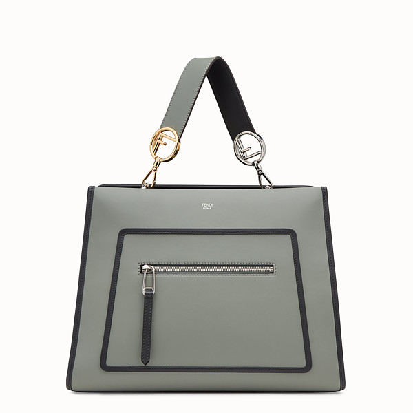 FENDI RUNAWAY REGULAR - Green leather bag - view 1 small thumbnail