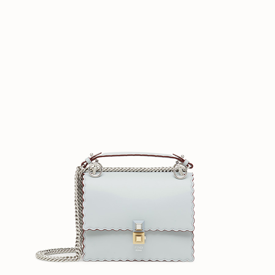 FENDI KAN I SMALL - Gray leather mini-bag - view 1 detail