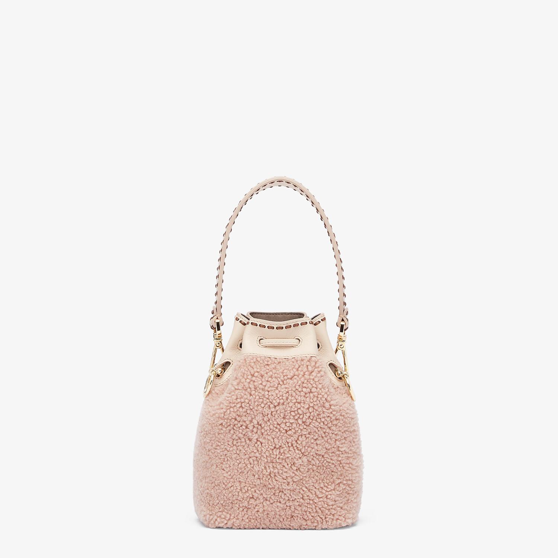 FENDI MON TRESOR - Pink sheepskin mini-bag - view 3 detail