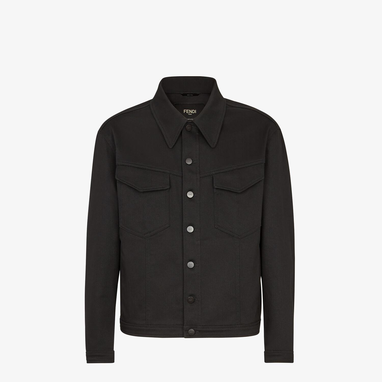 FENDI JACKET - Black canvas jacket - view 1 detail
