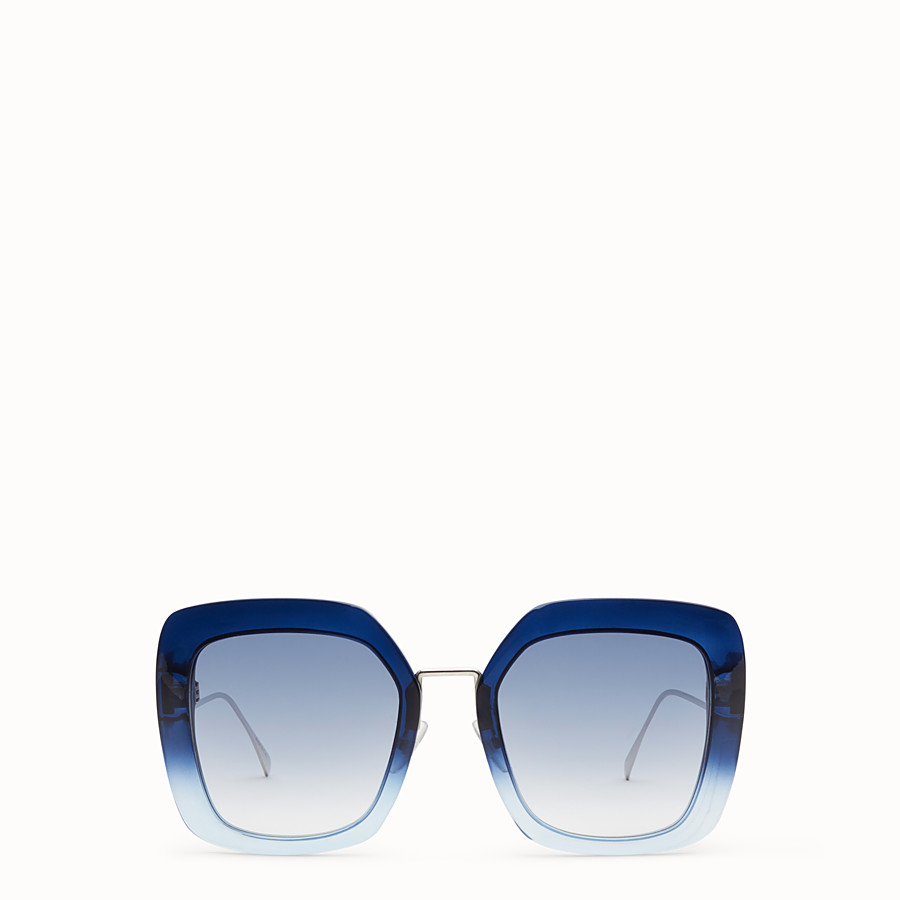 FENDI TROPICAL SHINE - Blue and pale blue sunglasses - view 1 detail