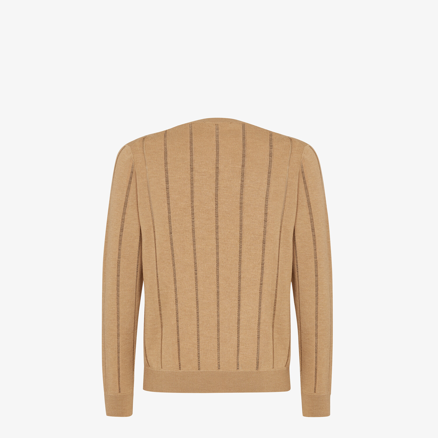 FENDI SWEATER - Brown wool sweater - view 2 detail
