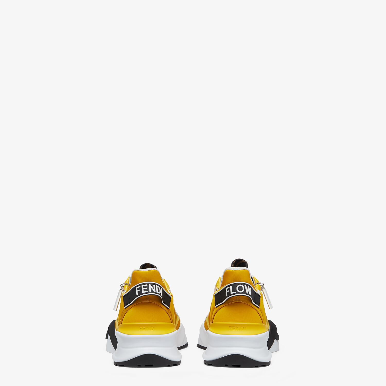 FENDI SNEAKERS - Yellow nylon low tops - view 3 detail