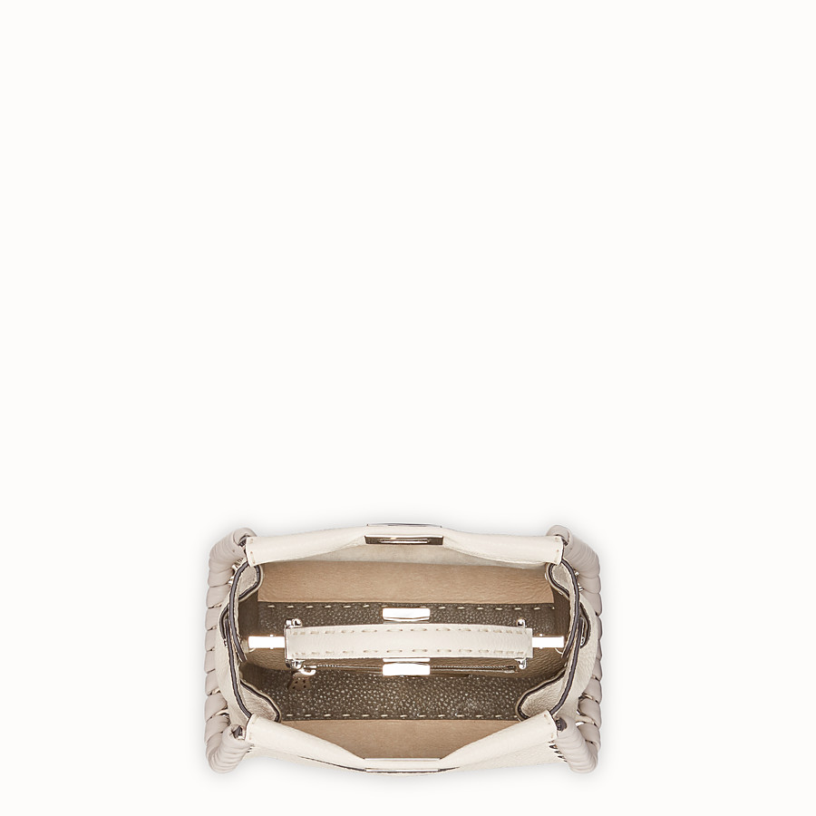FENDI PEEKABOO MINI - Sac en cuir blanc - view 4 detail