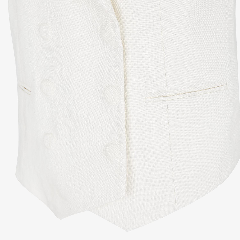 FENDI VEST - White linen vest - view 3 detail