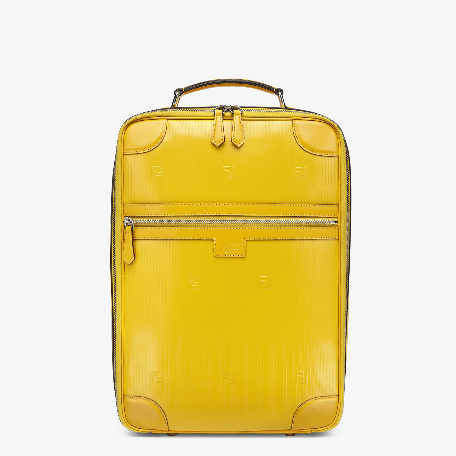 FENDI TRAVEL BACKPACK - Yellow leather backpack - view 1 detail