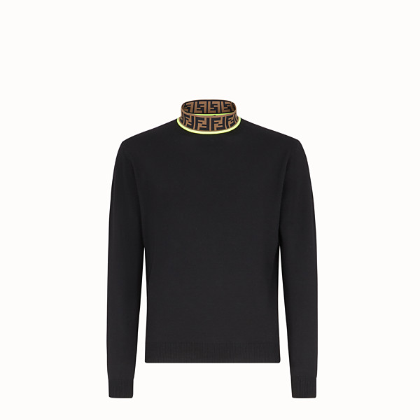 FENDI TURTLENECK - Black wool jumper - view 1 small thumbnail