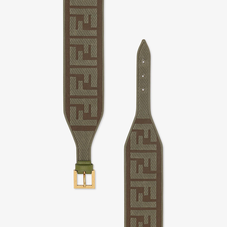 FENDI BELT - Green canvas belt - view 2 detail