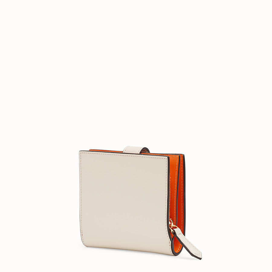 FENDI BIFOLD - White compact leather wallet - view 2 detail