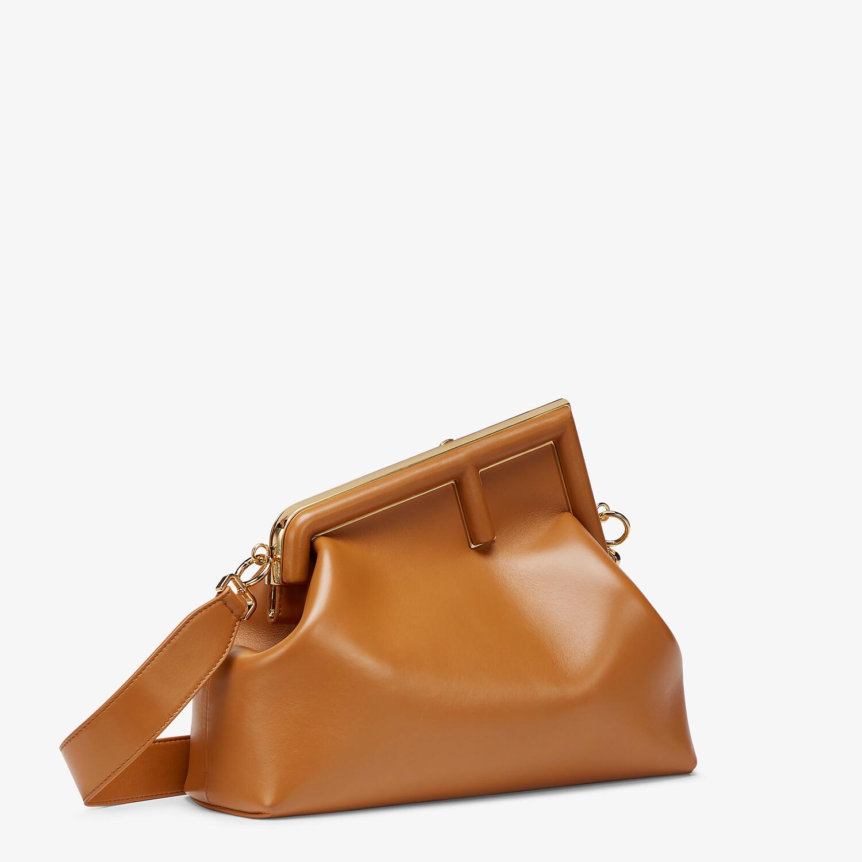 FENDI FENDI FIRST MEDIUM - Brown leather bag - view 3 detail