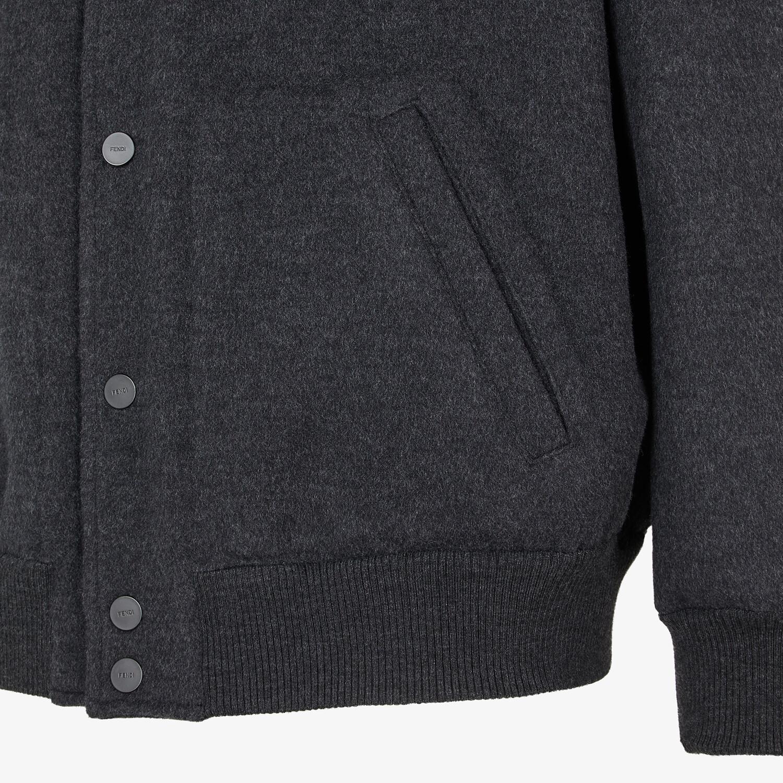 FENDI BOMBER JACKET - Grey wool jacket - view 3 detail