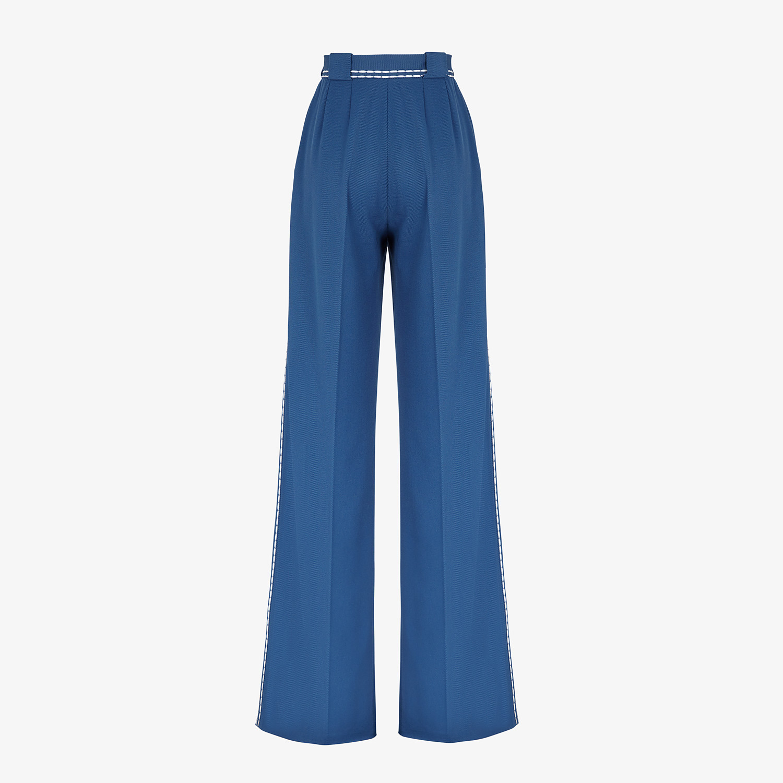 FENDI TROUSERS - Blue wool trousers - view 2 detail