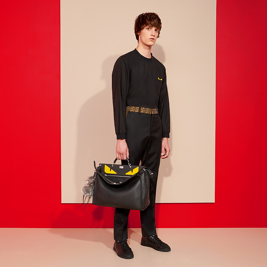 FENDI PEEKABOO - Black leather backpack - view 5 detail