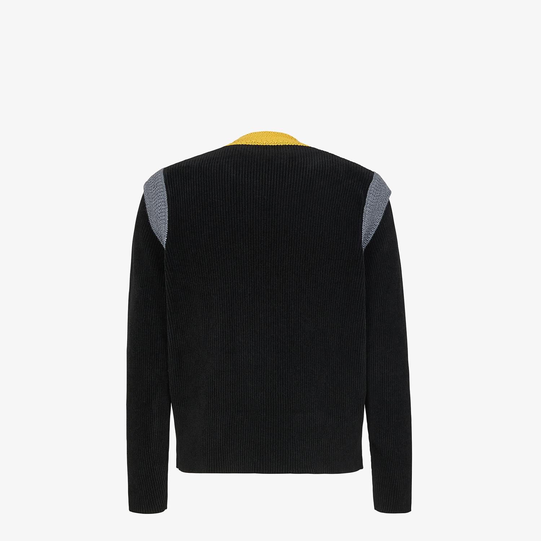 FENDI SWEATER - Sweater in black chenille - view 2 detail