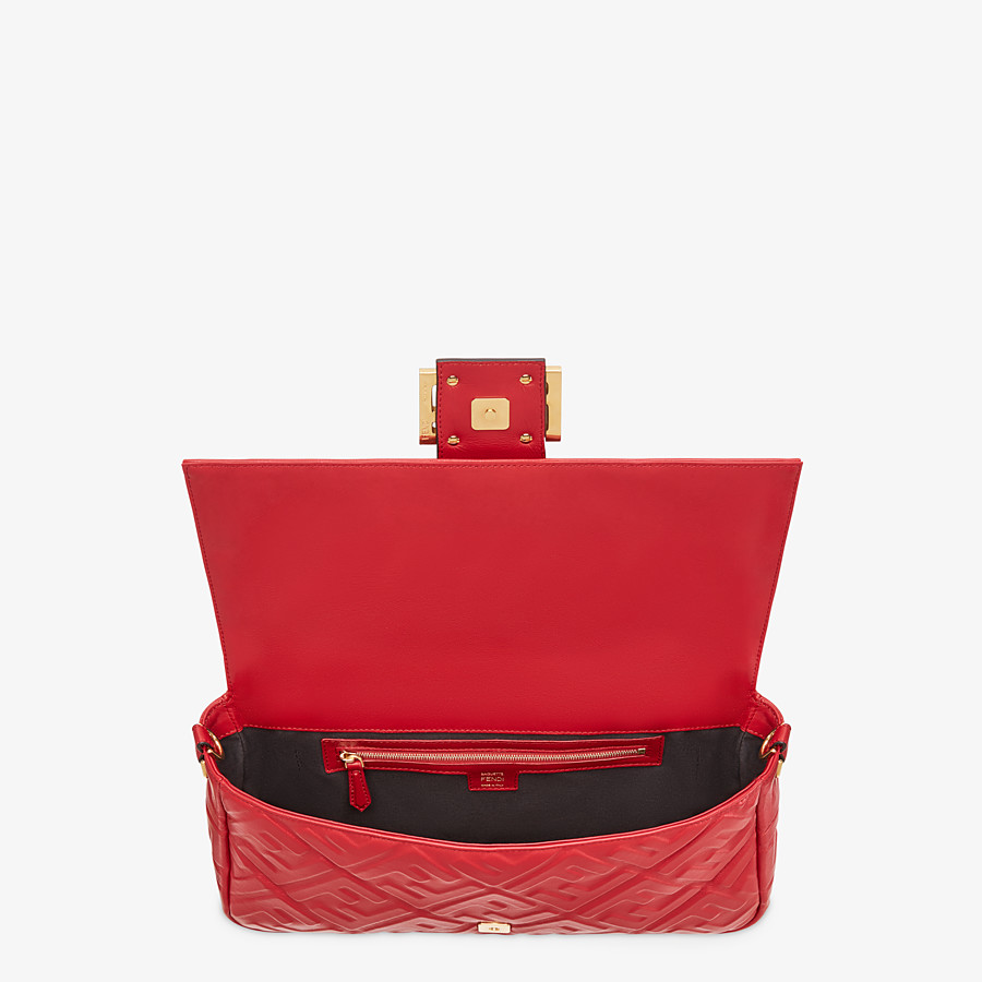 FENDI BAGUETTE LARGE - Tasche aus Leder in Rot - view 5 detail