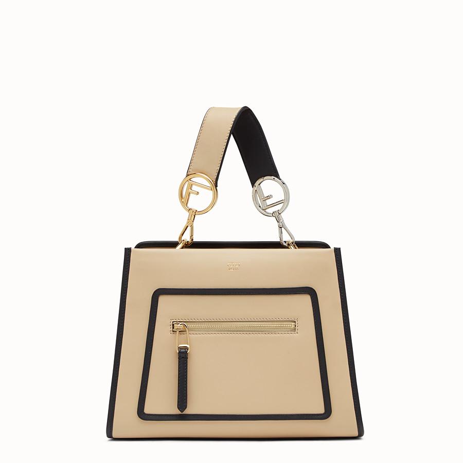 FENDI RUNAWAY SMALL - Beige leather bag - view 1 detail