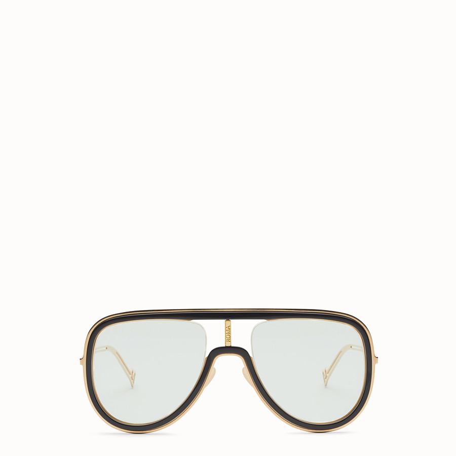 FENDI FUTURISTIC FENDI - Gold and black sunglasses - view 1 detail