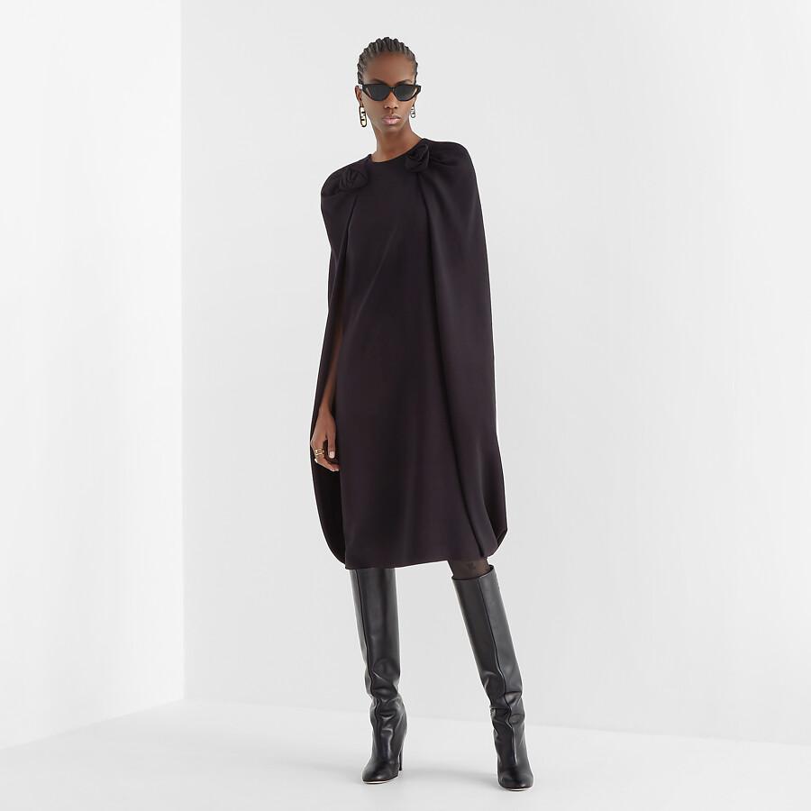 FENDI DRESS - Black cady dress - view 4 detail