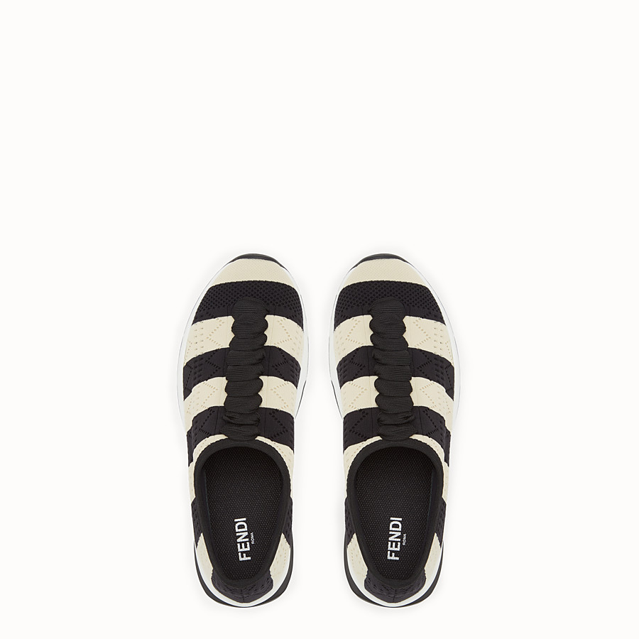 FENDI SNEAKERS - Two-tone fabric sneakers - view 4 detail
