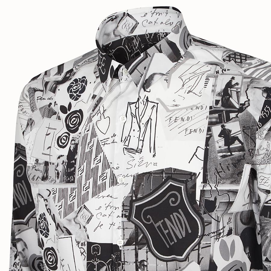 FENDI SHIRT - Black cotton shirt - view 3 detail