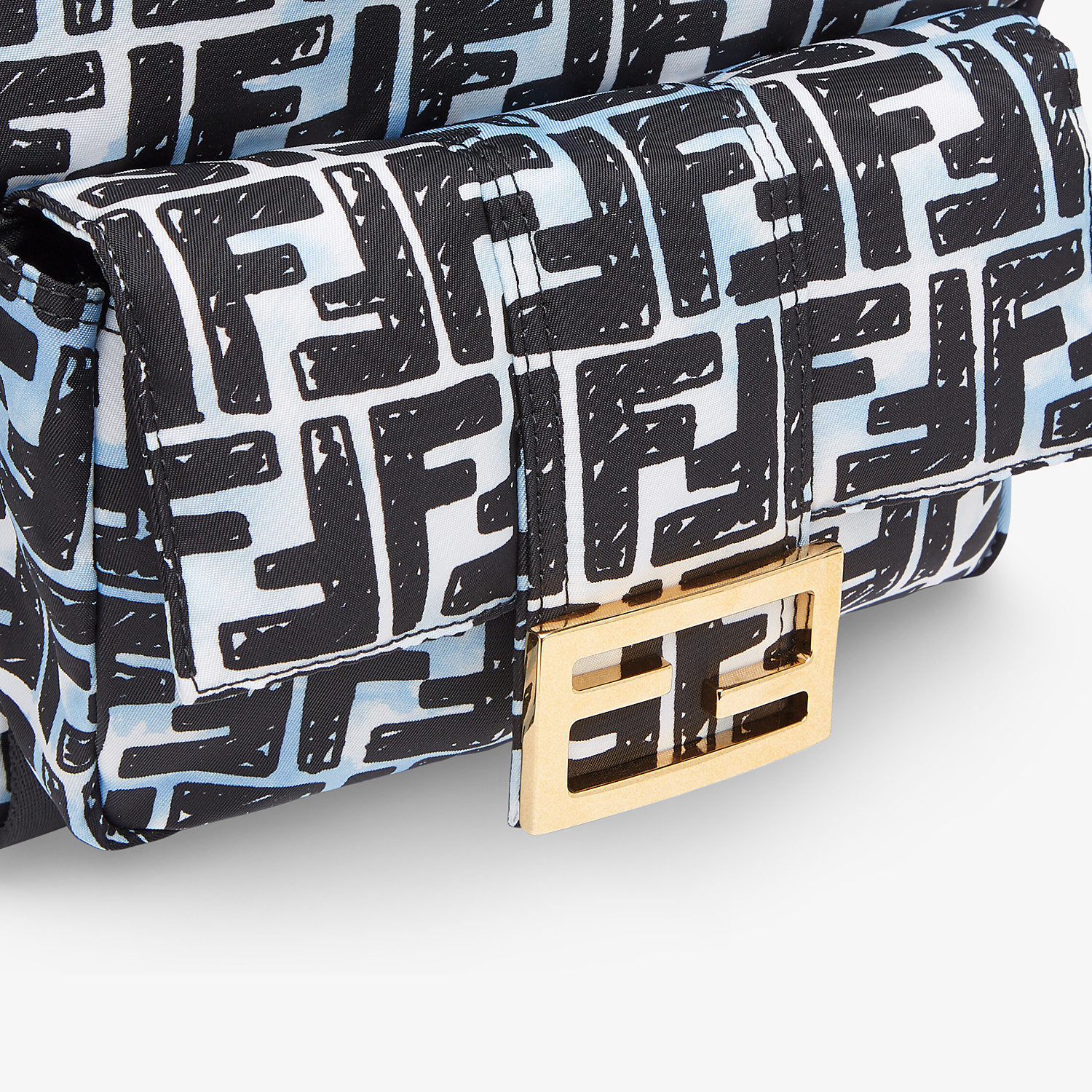 FENDI BAGUETTE BACKPACK - FF print nylon backpack - view 5 detail