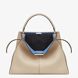 FENDI PEEKABOO X-LITE LARGE - Beige leather bag - view 1 thumbnail