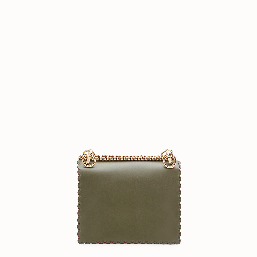 FENDI KAN I SMALL - Green leather mini-bag - view 3 detail