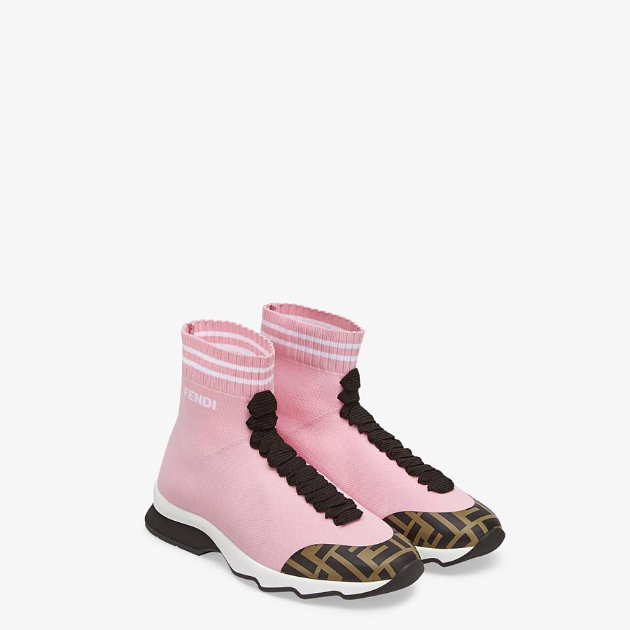 FENDI SNEAKERS - Pink fabric sneakers - view 4 detail