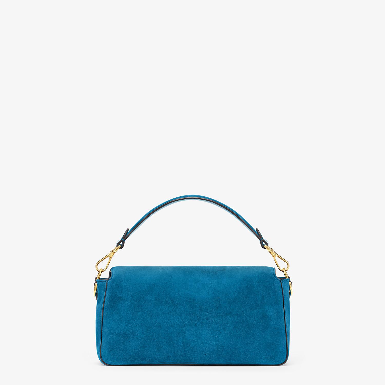 FENDI BAGUETTE - Blue suede bag - view 3 detail