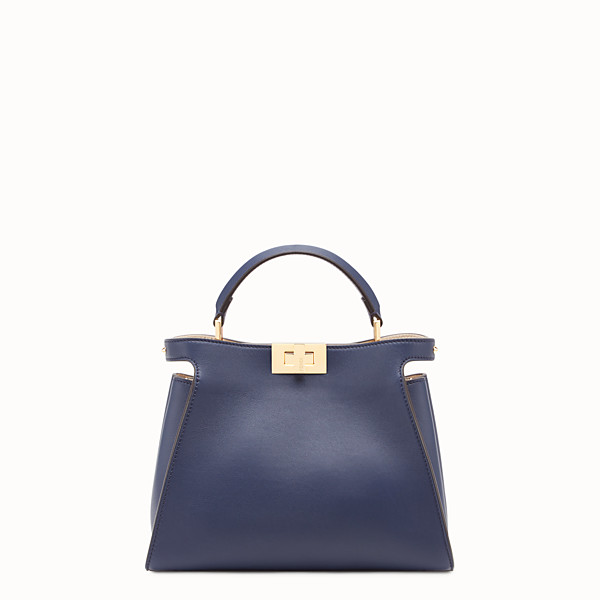 FENDI PEEKABOO ESSENTIALLY - Sac en cuir bleu - view 1 small thumbnail