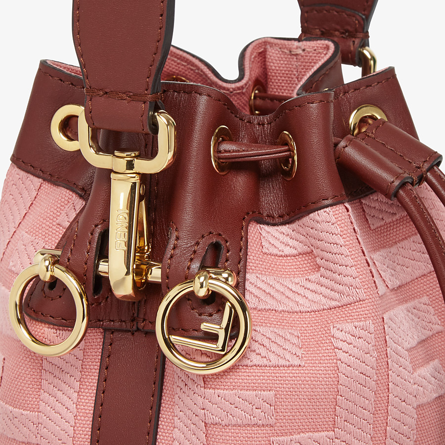 FENDI MON TRESOR - Pink canvas mini-bag - view 5 detail