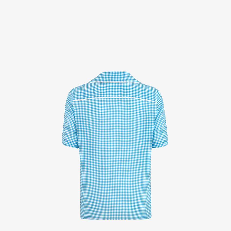 FENDI SHIRT - Check silk shirt - view 2 detail