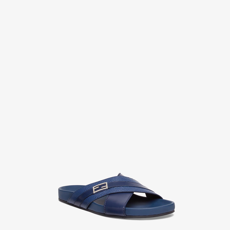 FENDI SANDALS - Blue leather fussbets - view 2 detail