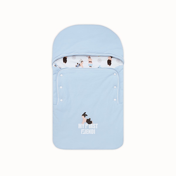 FENDI BABY SLEEPING BAG - Baby sleeping bag in printed jersey - view 1 small thumbnail
