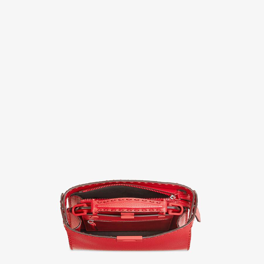 FENDI PEEKABOO ISEEU MINI - Red leather bag - view 5 detail