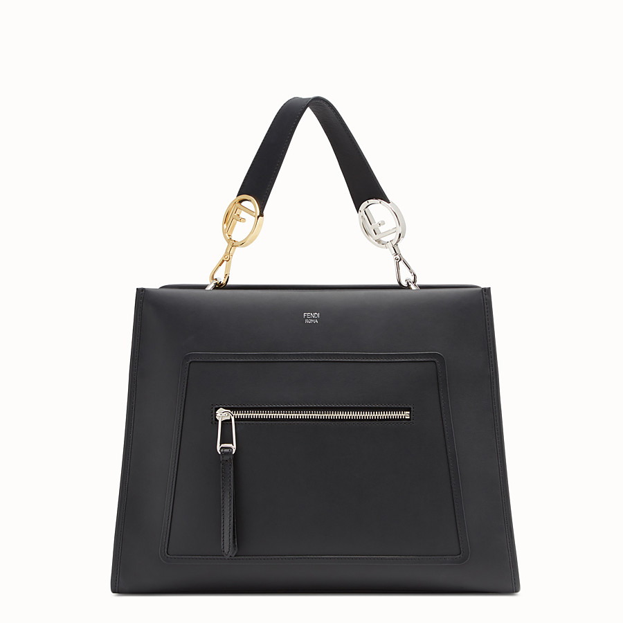 FENDI RUNAWAY REGULAR - Black leather bag - view 1 detail