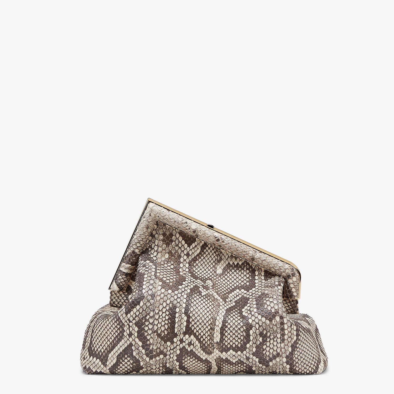 FENDI FENDI FIRST MEDIUM - White python leather bag - view 3 detail