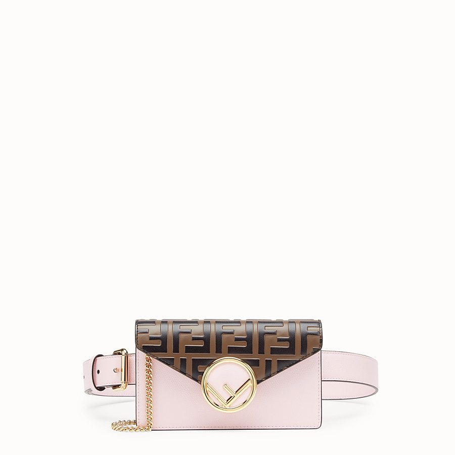 FENDI BELT BAG - Pink leather belt bag - view 1 detail