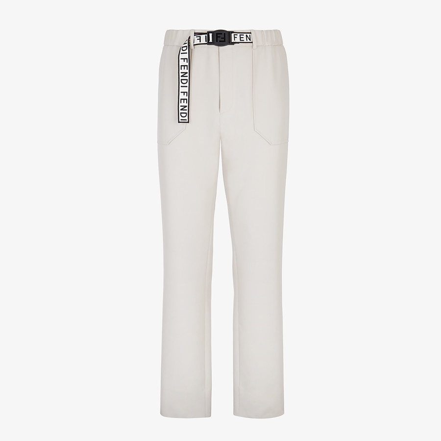 FENDI TROUSERS - White wool trousers - view 1 detail