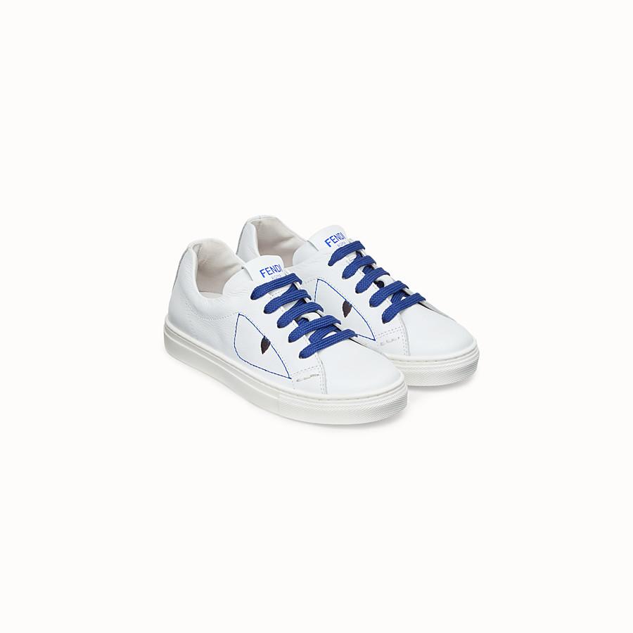 FENDI SNEAKER - Scarpa sneaker in pelle bianca - vista 2 dettaglio