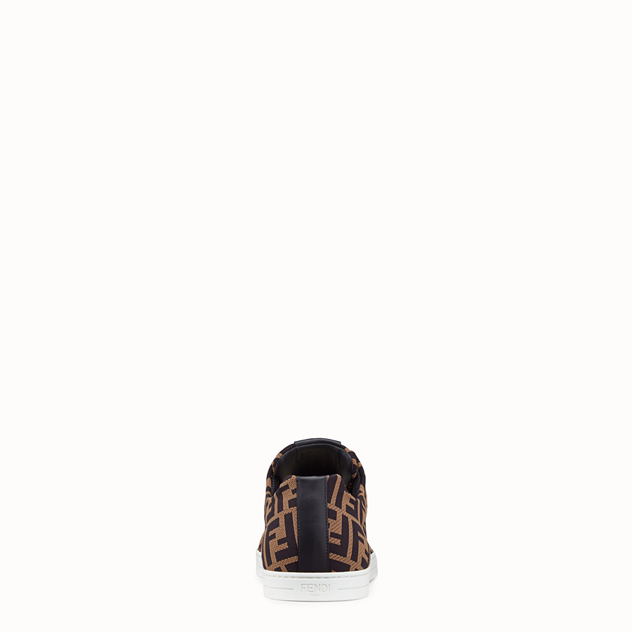 FENDI SNEAKERS - Brown tech fabric low-tops - view 3 detail