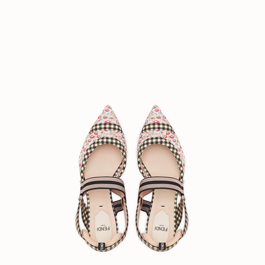 FENDI SLINGBACK - Multicolour cotton Colibrì - view 4 detail