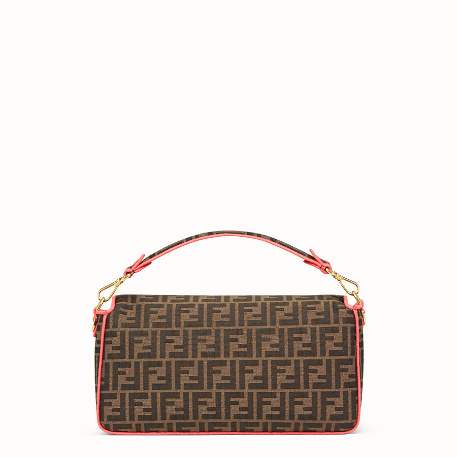 FENDI BAGUETTE LARGE - Fendi Roma Amor fabric bag - view 3 detail