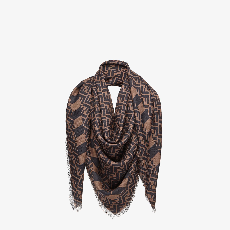 FENDI KEFFIYEH - Cashmere, wool and silk scarf - view 2 detail